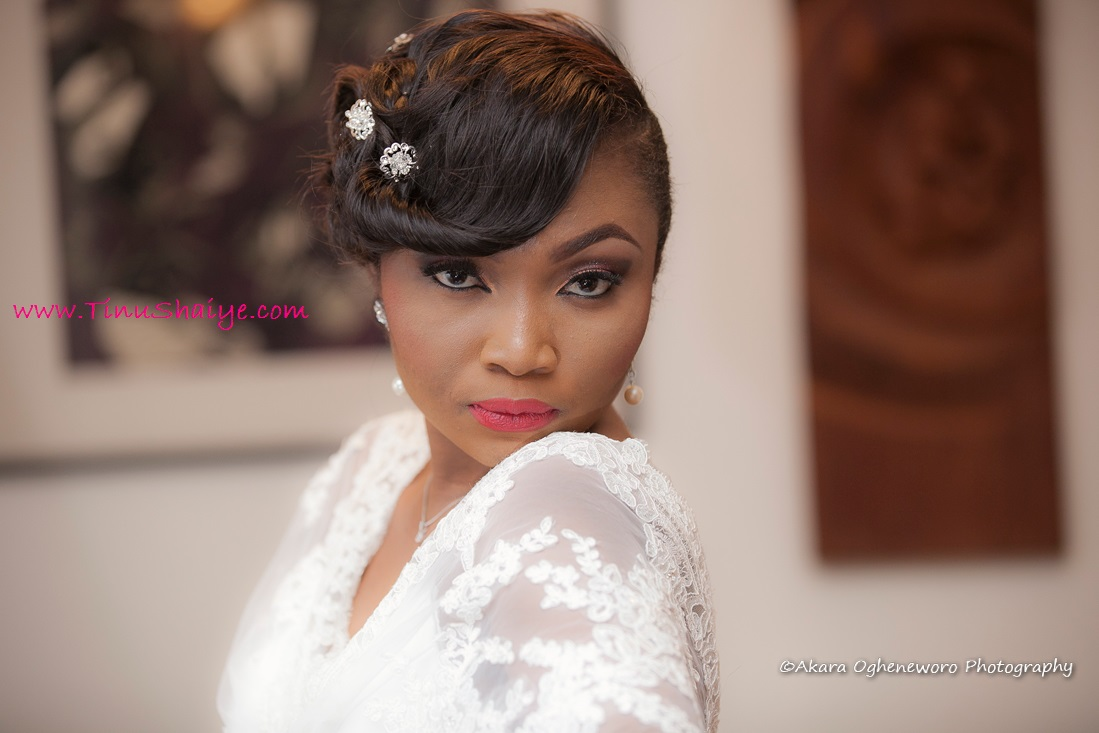 Naija White Wedding Makeup : TinuShaiye